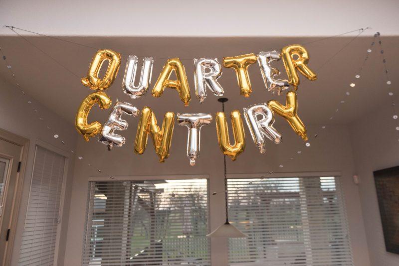 quarter century balloon